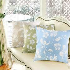 Floral Print Sofas Furniture Futuristic Blue Floral Pattern Print Sofa Cushion