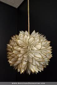 Capiz Shell Light Fixtures Diy Faux Capiz Shell Flower Pendant Light