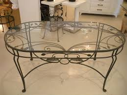 Adorable Decorating Ideas Using Oval Black Iron Tables In Glass - Ironing table designs