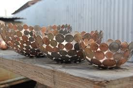 coin and key bowl 28 cm metal bowl metal sculpture