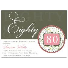brunch invitation sle flirty floral 80th birthday invitations paperstyle