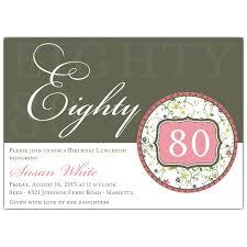 80th birthday invitations flirty floral 80th birthday invitations paperstyle