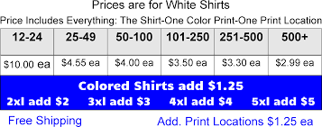 single color screen print jerzees 50 50 blended t shirts cheap