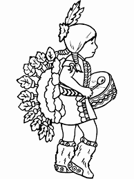 doll coloring sheets nations native american themed