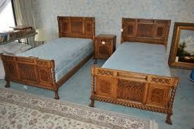 1930s romweber eight 8 piece oak twin bedroom set boys beds twin
