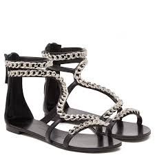shop flat chain sandals from spring summer 2016 spotted fashion