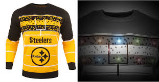 raiders light up christmas sweater steelers light up christmas sweater