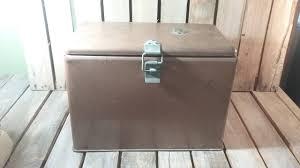 Metal Planter Box by Vintage Metal Cooler Measurements Are 16x11 5x9 Metal Flower Box