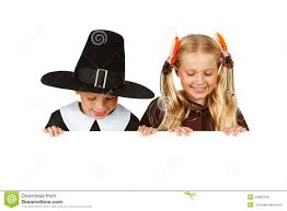 thanksgiving indian costume thanksgiving pilgrim and indian look down stock photo image
