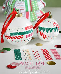 the easiest ornaments washi crafts