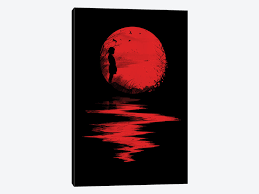the land of the rising sun canvas by nicebleed icanvas