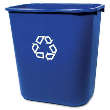decorative recycling containers for home rubbermaid deskside recycling container walmart com