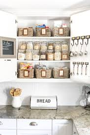 how to organize a kitchen cabinets pantry cabinet organization and printable labels bless u0027er house