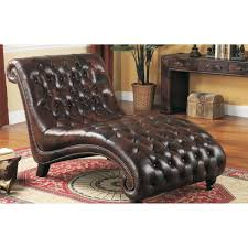 Red Leather Chaise Lounge Chairs Living Room Lazzaro Brown Leather Chaise Lounge Red And White