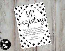 bridal shower gift registry registry card insert etsy
