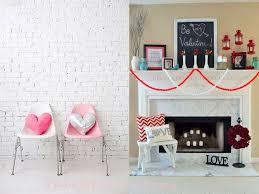 Home Decor Tips Decorations Terrific Valentine Room Decor Ideas With White Brick