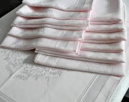 light pink dinner napkins pink linen napkins etsy