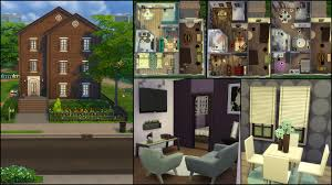 the sims 4 gallery spotlight simsvip the first floor apartment has a living room with television dining area with easel and bookcase kitchen bedroom and bathroom