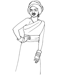 african woman coloring page download free african woman coloring