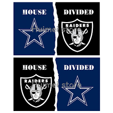 Cowboys Flag Oakland Raiders Vs Dallas Cowboys House Divided Rivalry Flag
