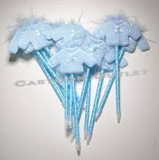 12 pc baby shower favors pens sweaters recuerdos party favors blue