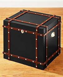 Trunk Ottoman Multi Use Trunk Style File Storage Office Home Accent