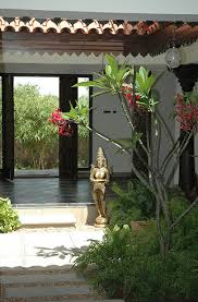 Interior Courtyard Spanish With Asian Blessings Outside