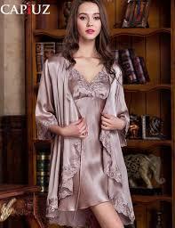 robe de chambre femme satin 2016 femme robe robe ensembles satin de soie des de nuit de luxe
