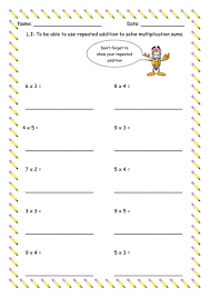 repeated addition worksheet by flicktrimming teaching resources
