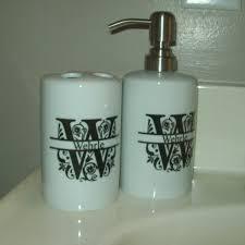 personalized soap personalized soap dispenser bathroom set 29 99