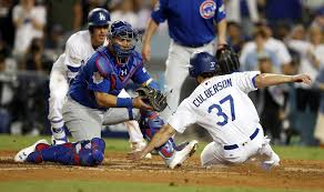 controversial home plate blocking rule comes into play in nlcs