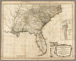 Old Map Of Mexico by A General Map Of The Southern British Colonies In America