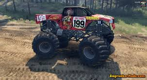 2014 monster jam trucks pastrana monster truck v1 0 for spin tires 2014 zagruzka mods