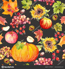 thanksgiving seamless background fruits vegetables pumpkin