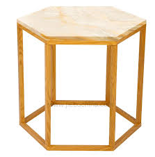Marble Accent Table Hexagon Marble Accent Table Jtt011