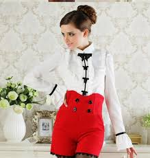 frilly blouse 2017 white womens sleeves tops high neck