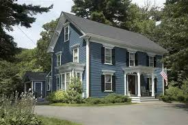 Color Combinations For Exterior House Paint - perfect exterior color schemes in blue also white color for second
