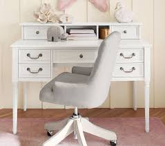 Girls White Desk With Hutch by Lorraine Swivel Desk Chair Pottery Barn Kids