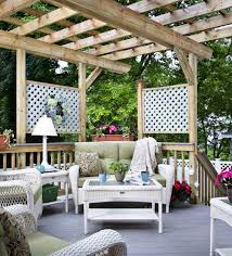 Backyard Living Ideas by Modern Lighting Above Small Table Ideas And White Rattan Sofa