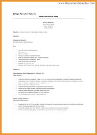 resume format for college application sle resume for college application jacksoncountyky us