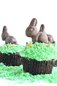 easter bunny cupcakes fork and beans