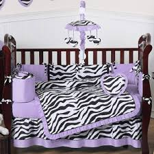 Animal Print Crib Bedding Sets Purple Funky Zebra Baby Bedding 9 Pc Crib Set Only 189 99