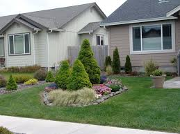 what to do in middle of front lawn flower landscaping growing