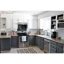 light grey kitchen cabinets light grey and white color solid birch wood kd rta kitchen cabinets buy grey kitchen cabinets kitchen cabinet rta kitchen cabinet product on