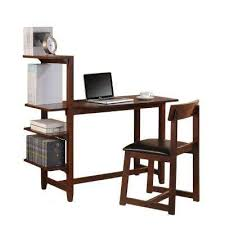 desk with shelves on side modern wood mahogany desks home office furniture the home
