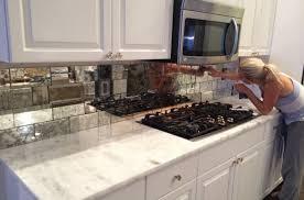 mirror backsplash in kitchen mirror tile mirrored backsplash kitchen for the home hd in