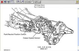 dodge dakota transmission slipping 1999 dodge dakota location of transmission output sensor