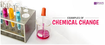 examples of chemical change organic inorganic and biochemical
