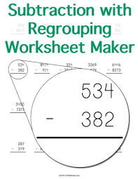 subtraction with regrouping worksheet gif