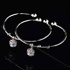 white gold crystal bracelet images 18k radiant crystal cube bangle bracelet rose gold white gold jpg